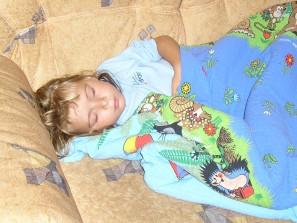 dítě s horečkou